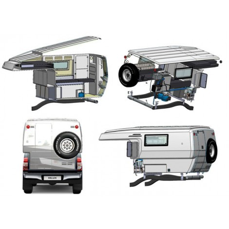cellule gazell double cabine off road accessoires. Black Bedroom Furniture Sets. Home Design Ideas